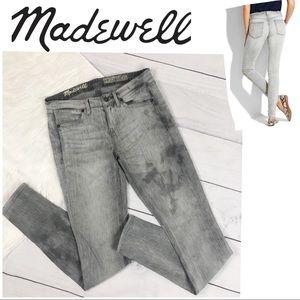 Madewell Skinny Gray Acid Wash Jeans Skinnies Grey